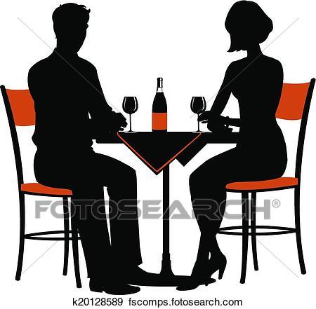 450x441 Clip Art Of Romantic Dinner For Two K20128589