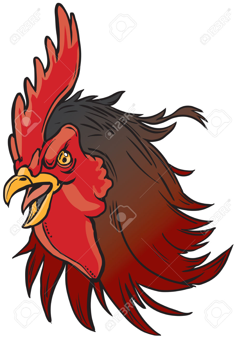 915x1300 Rooster Clipart Rooster Head