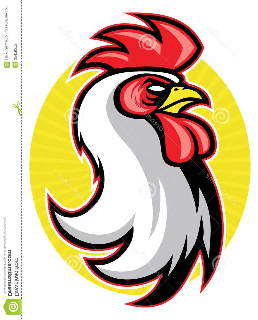 1024x1270 Best Free Rooster Mascot Vector Stock Head Easy To Edit Suitable