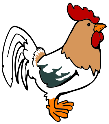 377x425 Rooster Cartoon 04