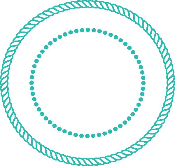 600x569 Rope Circle Aqua Clip Art