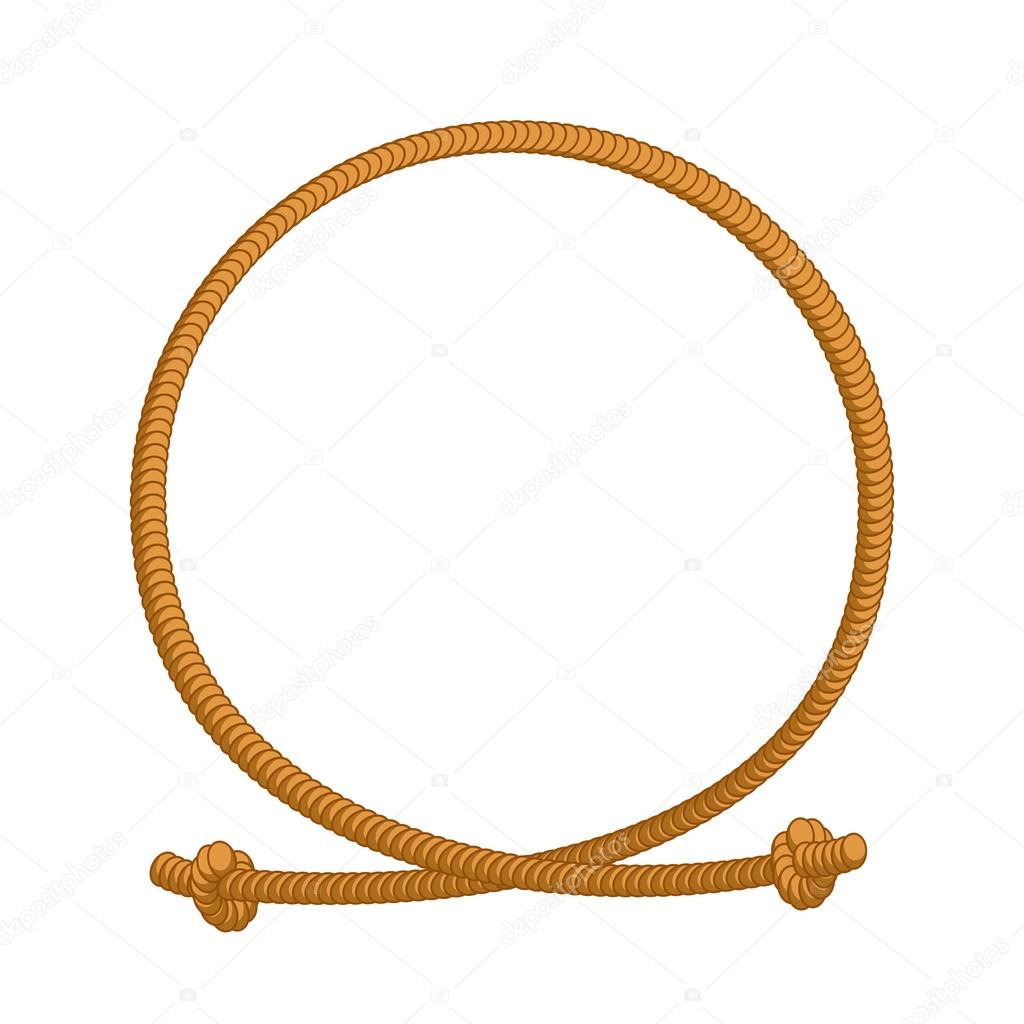 1024x1024 Rope Loop Frame. Rope Rope Circle With Sites Stock Vector