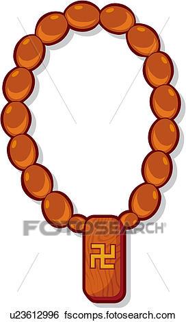 272x470 Clip Art Of Spiritual Path, Rosary, Zen, Belief, Wooden, Prayer
