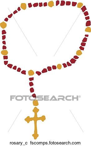 293x470 Clipart Of Rosary Rosary C