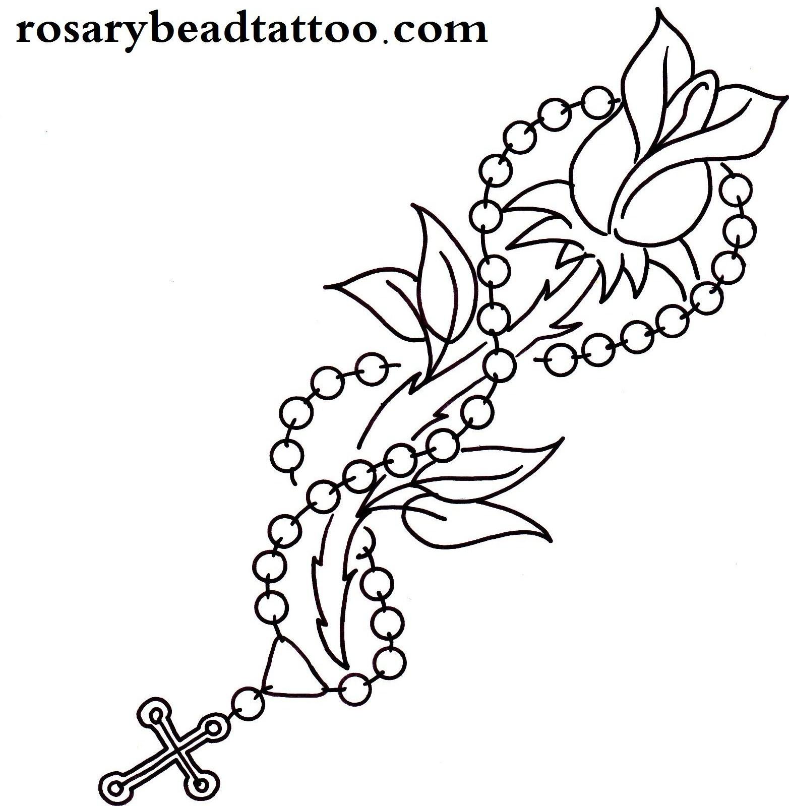 1565x1599 Drawn Tattoo Rosary