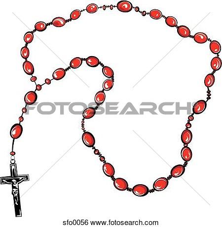 450x461 Catholic Rosary Bead Clipart