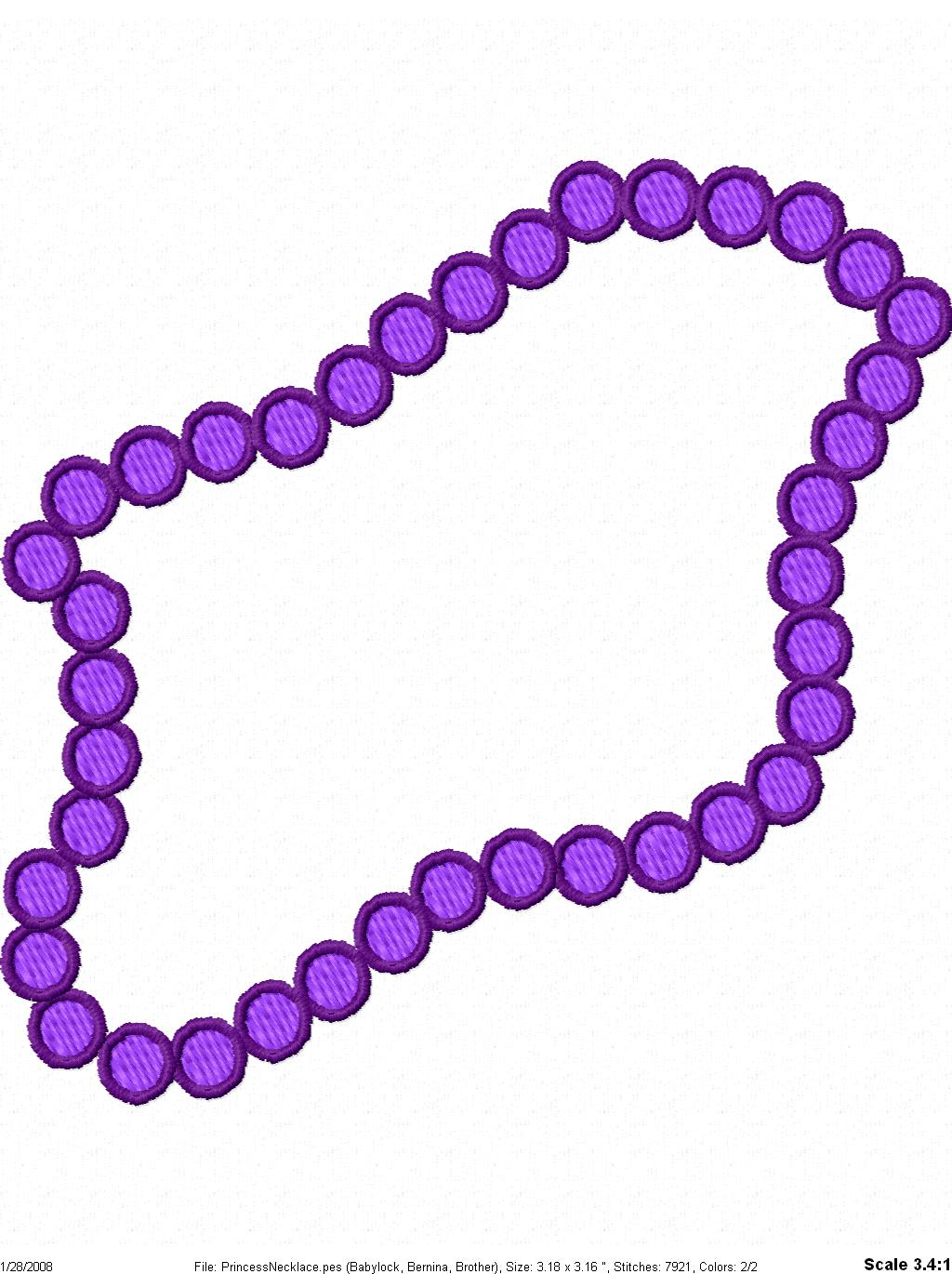 1024x1370 Beads Necklace Clipart