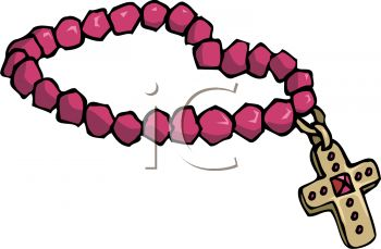 350x229 Pink Rosary Beads With A Jeweled Cross