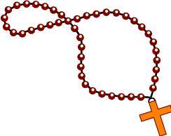 244x195 Rosary Clip Art Image