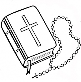 347x350 Bible And Rosary Clipart