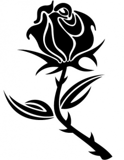 250x324 Rose Clipart Black And White