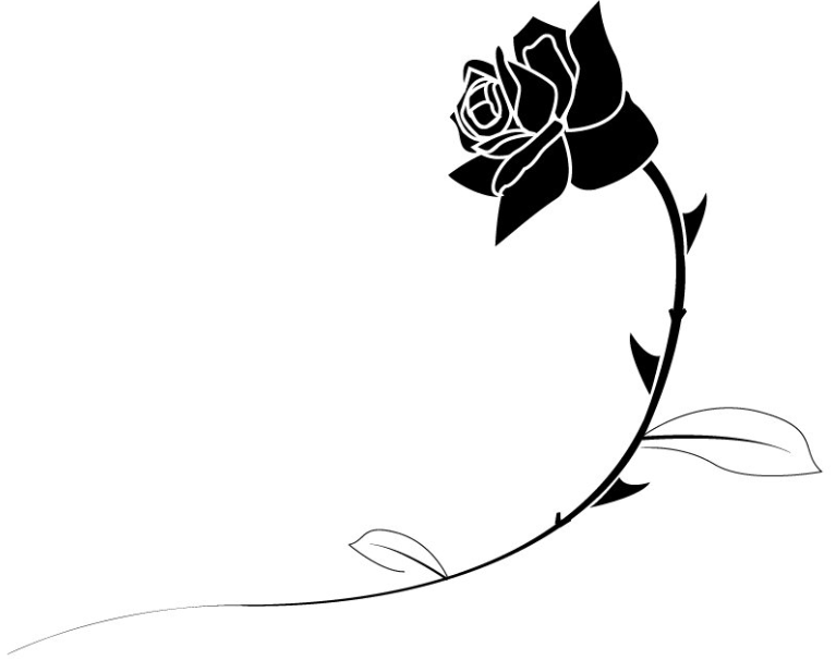 767x606 Black And White Rose Clipart Collection (73+)