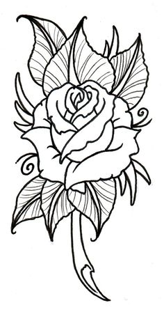 236x448 Roses, flowers, vine, leaves, bud, open, clip art, black and white