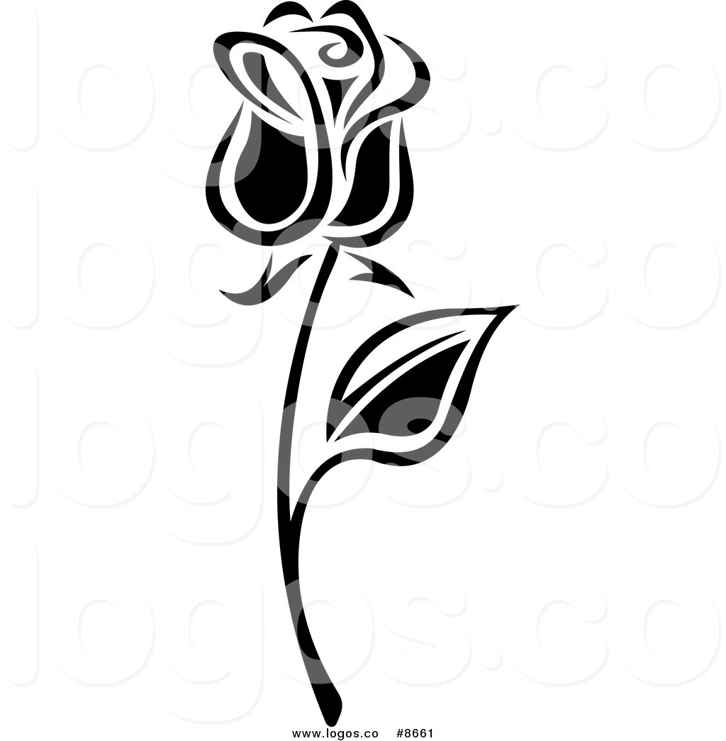 1024x1044 Royalty Free Clip Art Vector Black and White Long Stemmed Rose