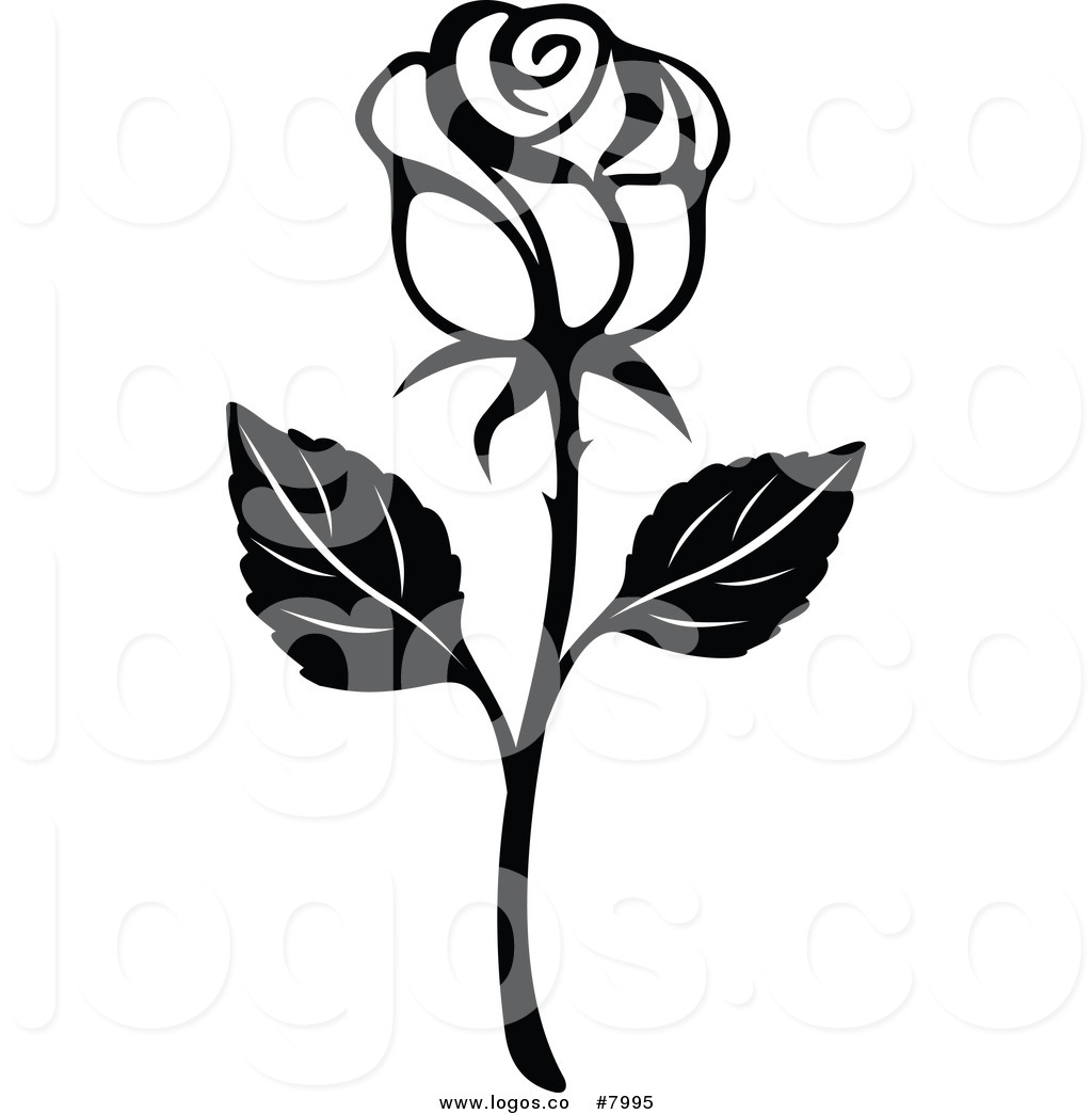 1024x1044 Royalty Free Clip Art Vector Black and White Rose Logo by Vector