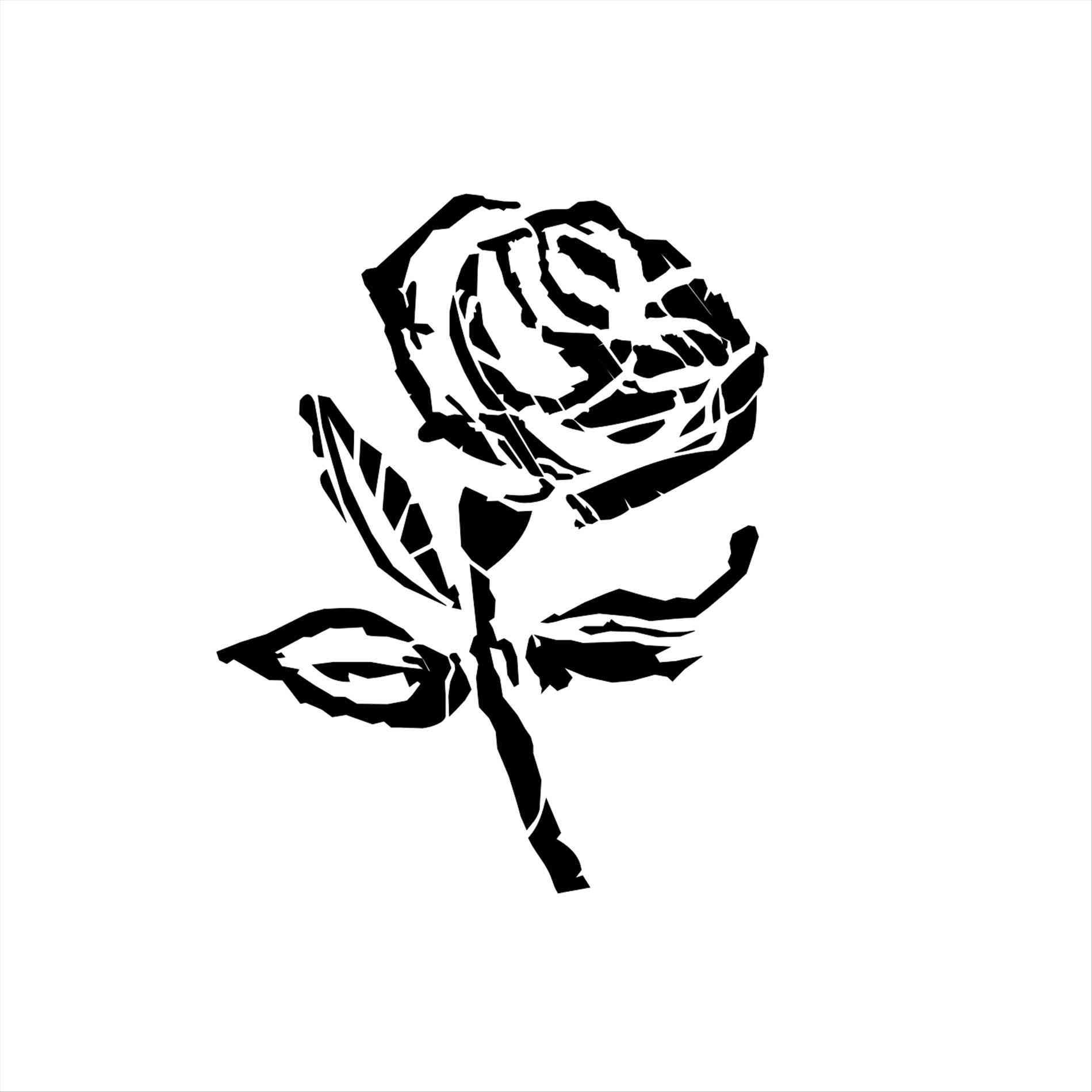 1899x1899 Black Rose Vector Png For Ue Rose Flower Sketch Easy Deconstructed