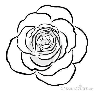 400x386 Graphics For Rose Outline Graphics