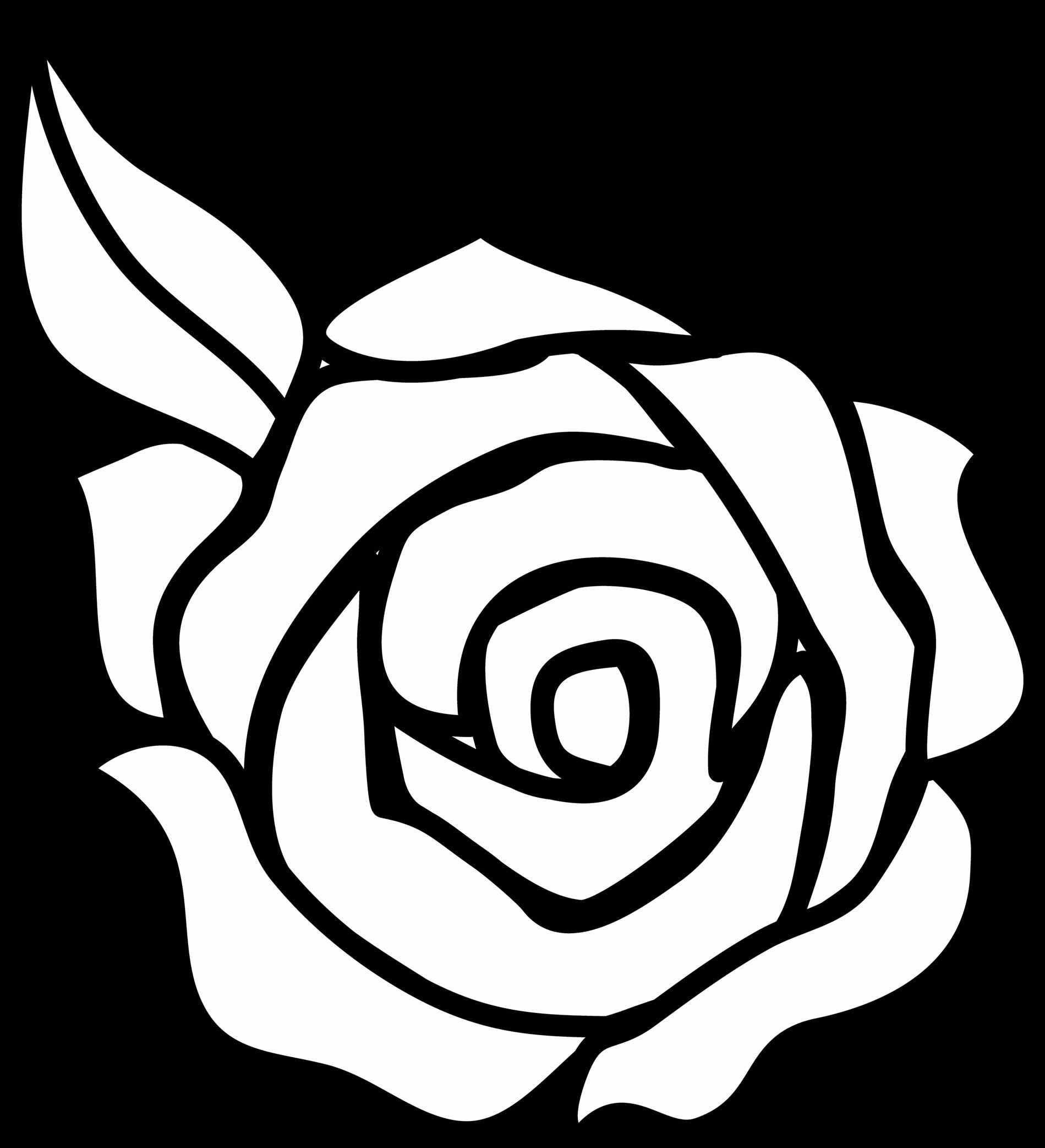 1899x2084 Rose Bouquet Outline Clipart Urldircom