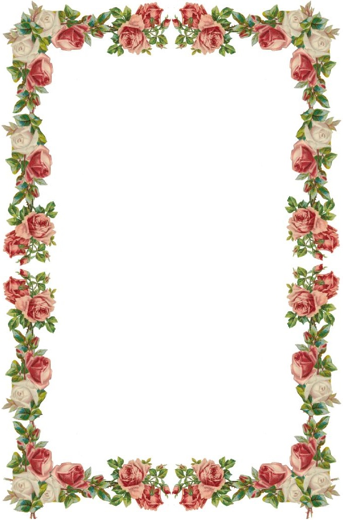 676x1024 Free Flower Border Clip Art We Are Here To Witness The Marriage