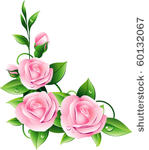 149x150 Pink Rose Border Clipart