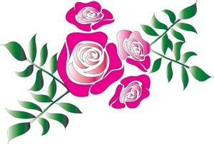 300x203 Pink Rose Clip Art Border Free Clipart Images
