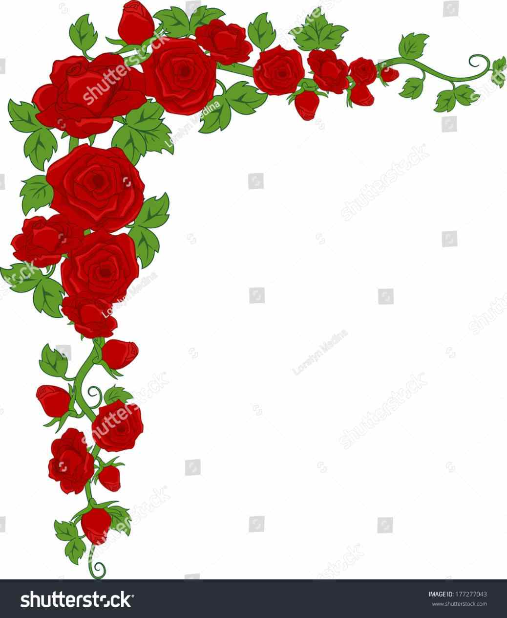 1038x1264 Png Flower Border Clip Art Clipart Png