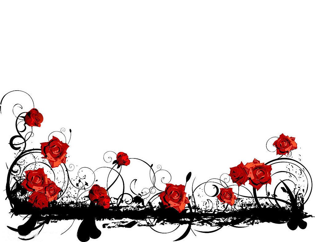 1024x788 Red Rose Clipart Rose Border