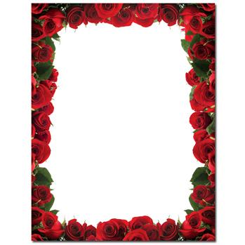 349x349 Rose Border Clip Art