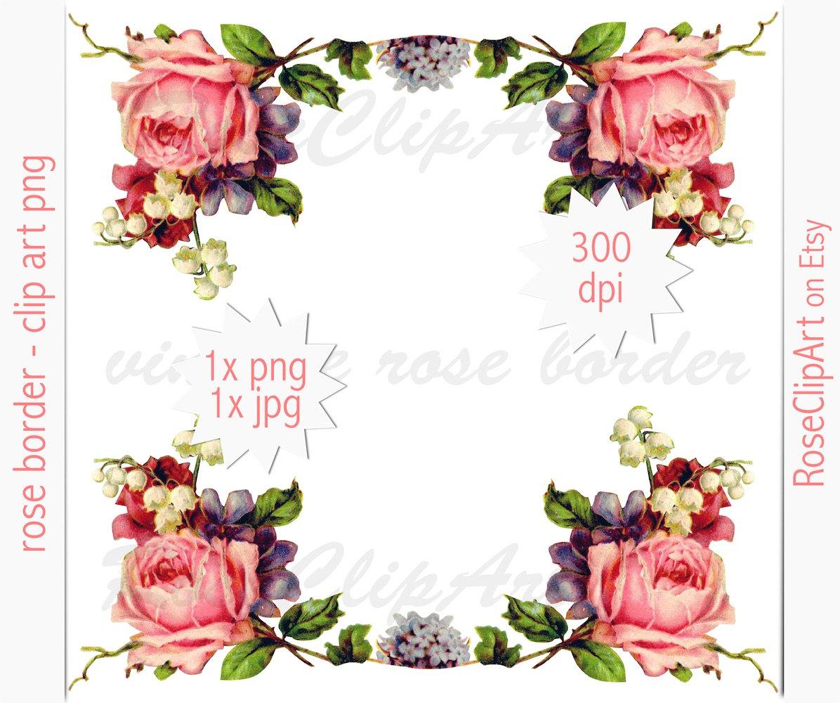 1196x1000 Digital Floral Border Clip Art Png