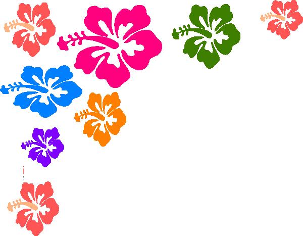 600x467 Hawaiian Flower Border Clip Art Free Clipart Images Image