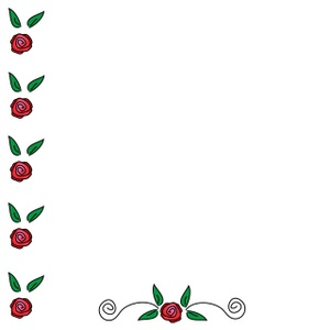 300x300 Red Rose Clipart Rose Border