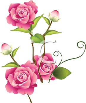 290x350 Pink Rose Bud Clip Art Cliparts