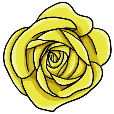 400x400 Free Yellow Rose Clip Art