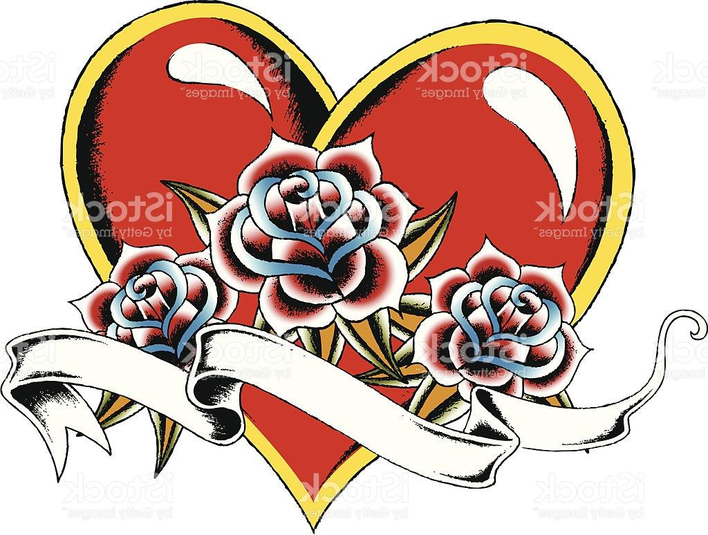 1024x774 Best Hd Heart With Rose Tattoo Drawing Vector Images