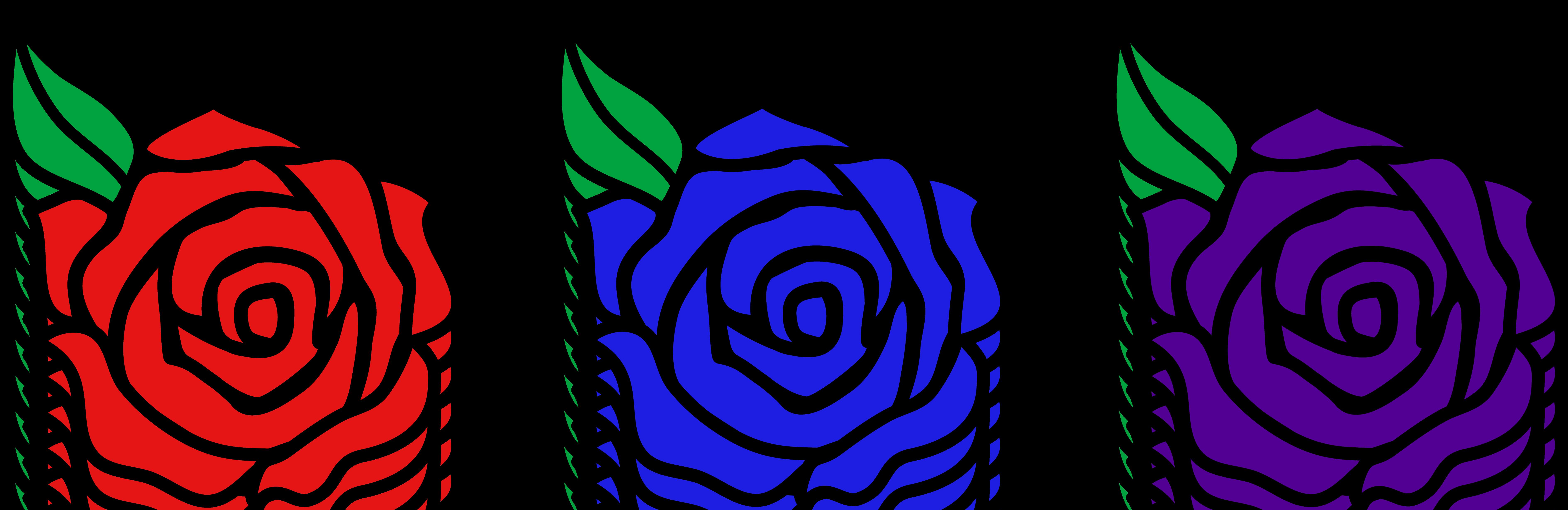 7560x2458 Cartoon Rose Images