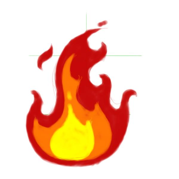 600x600 Drawn Rose Flame
