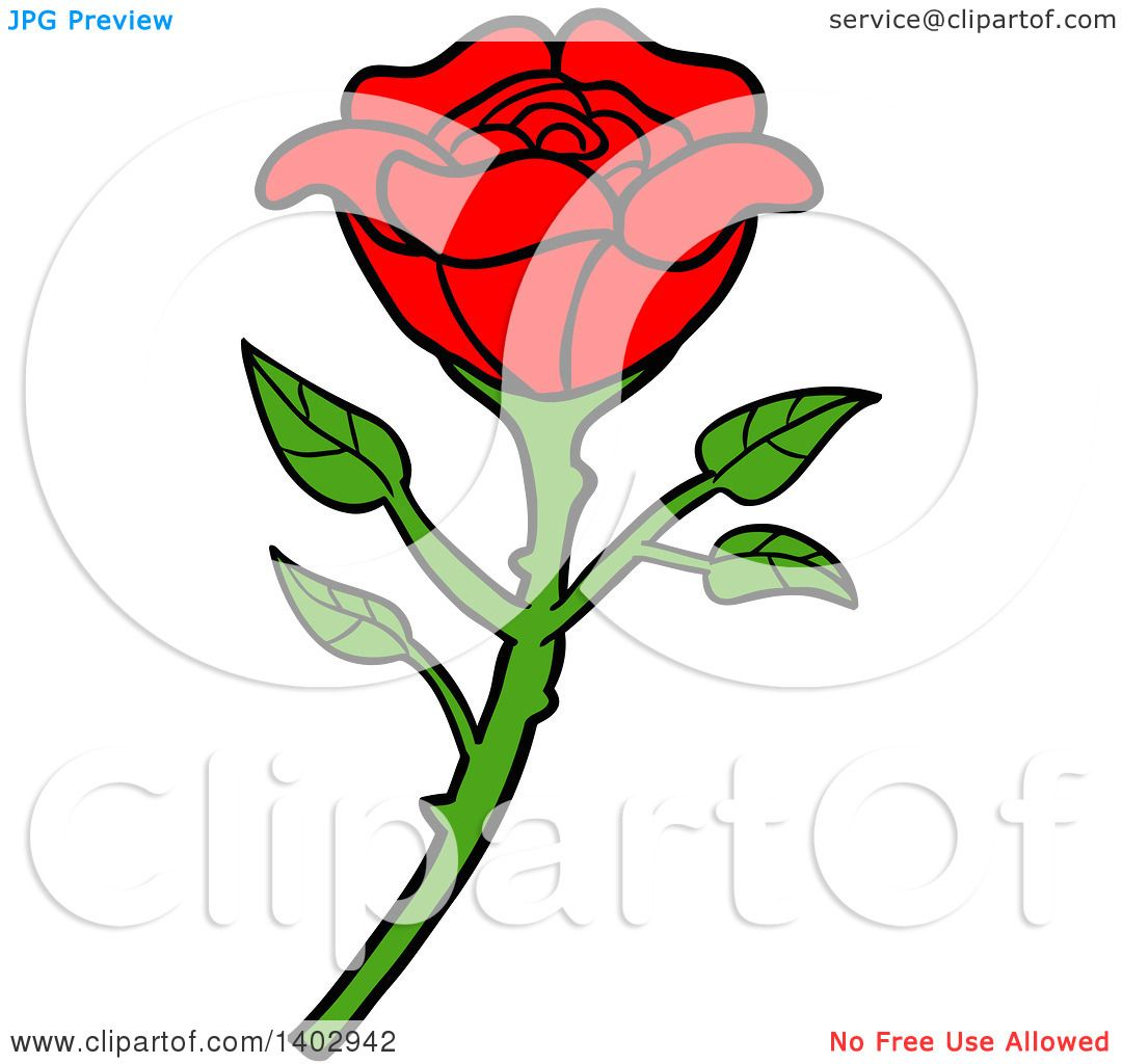 1080x1024 Cartoon Clipart Of A Beautiful Red Rose