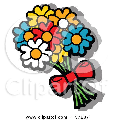 450x470 Cartoon Bunch Of Flowers
