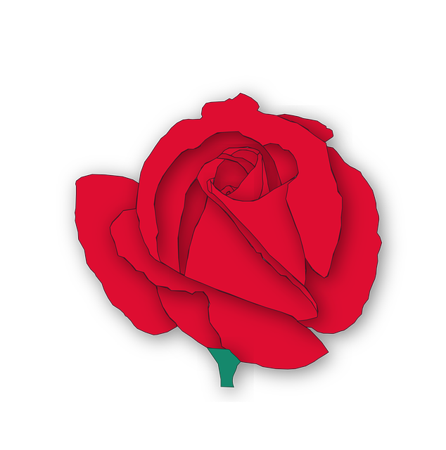 634x640 Cartoon Red Rose Flower Vector Free Psd,vector,icons