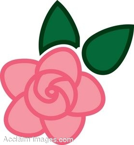 278x300 Clip Art Picture Of A Pink Rose