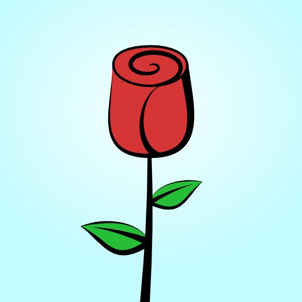 600x600 Drawn Rose Cartoon