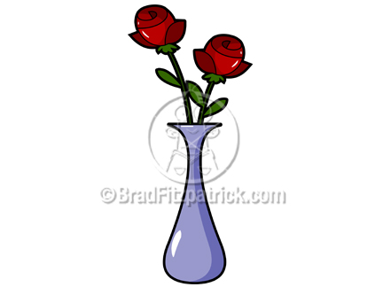 432x324 Rose Vase Clip Art Royalty Free Rose Vase Clipart Cartoon Rose