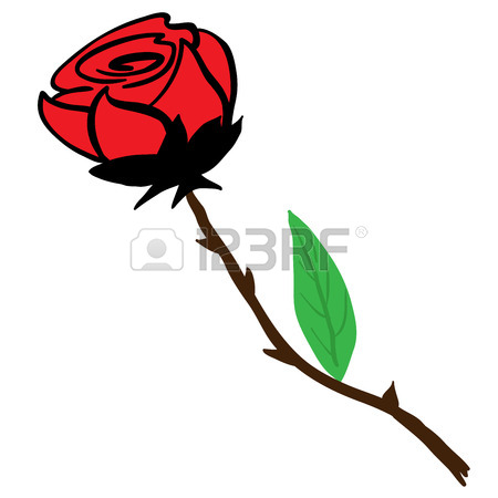 450x450 Simple Black And White Rose Cartoon Royalty Free Cliparts, Vectors