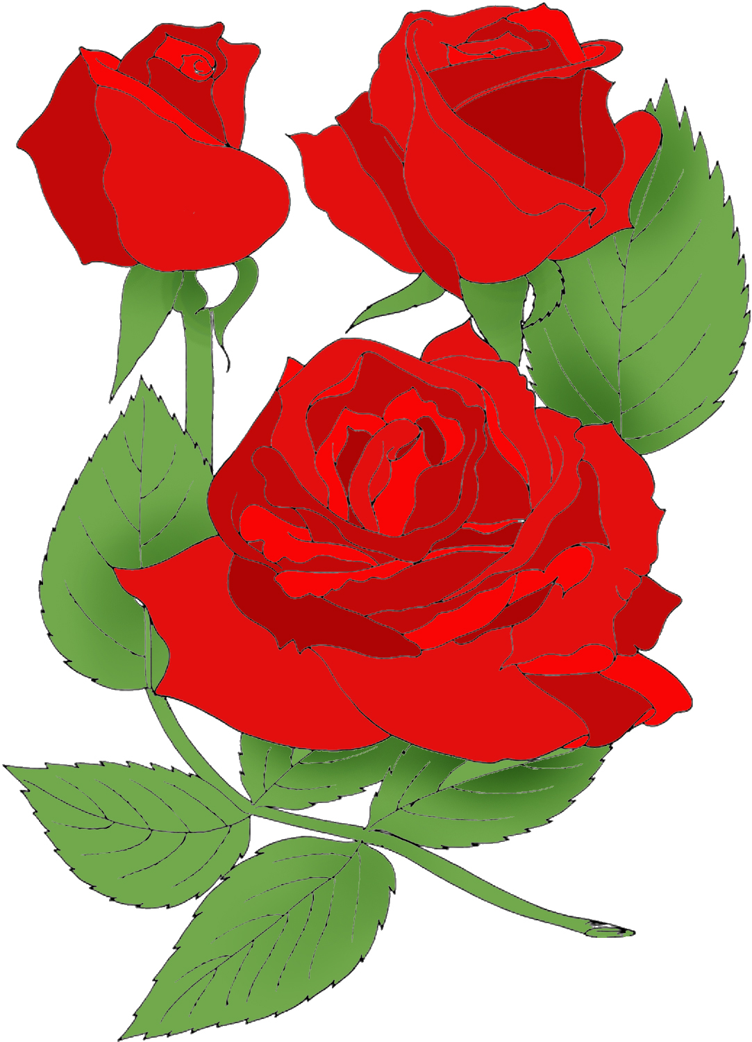 1083x1500 June Rose Month Clipart