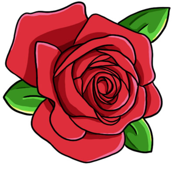 600x600 Rose clip art free clipart images