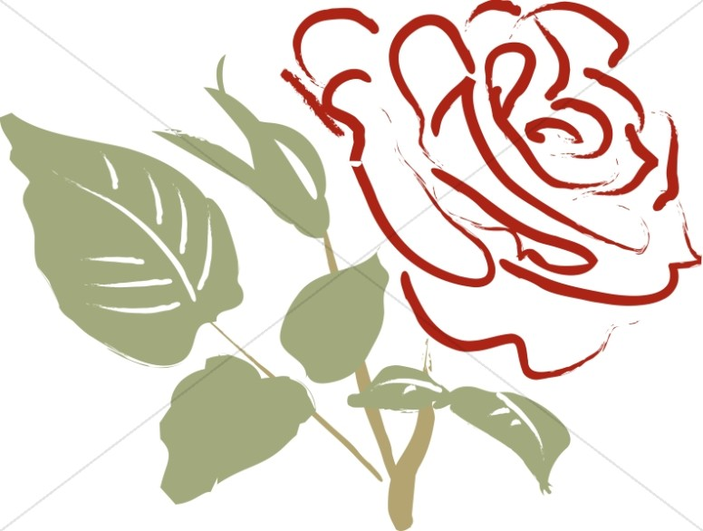 776x586 Rose Clipart Rose Leaves