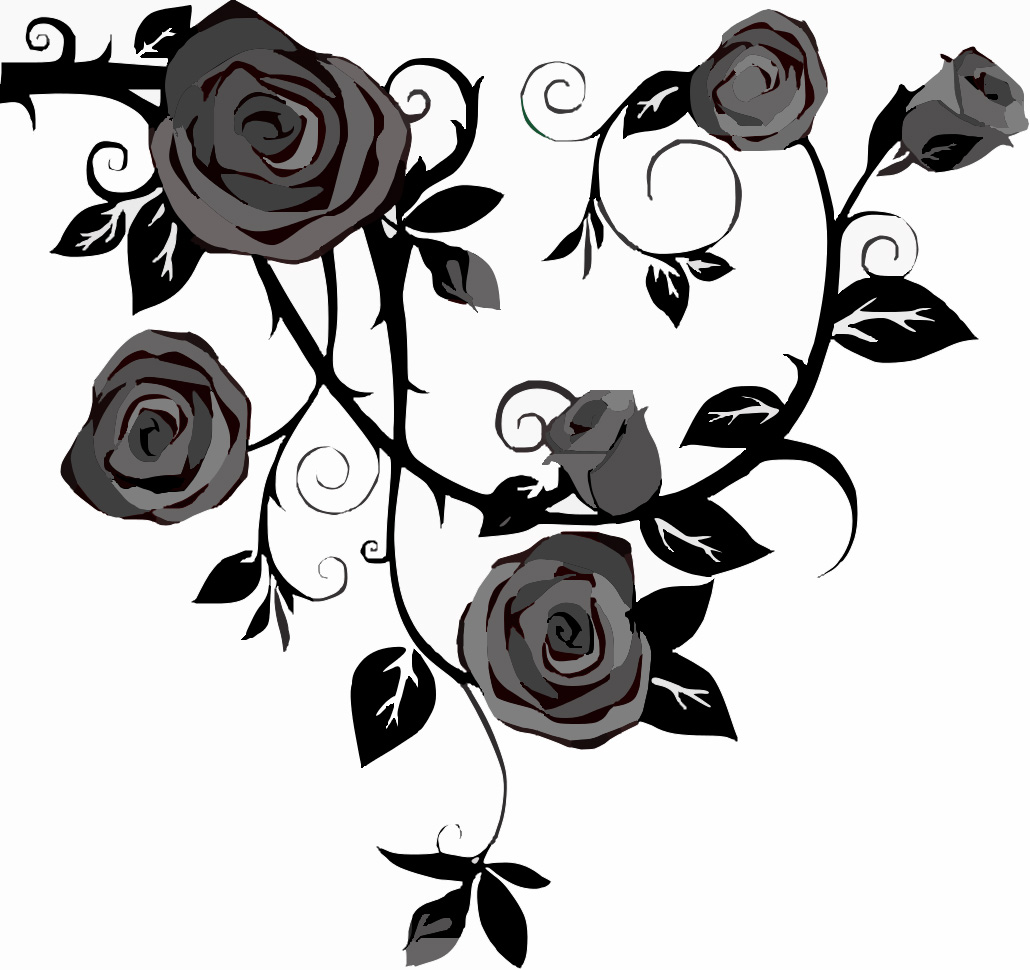 Rose Clipart Black And White Free Download Best Rose Clipart Black