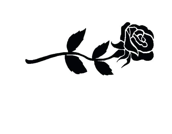 600x468 Rose Clipart Rose Black And White Image Rose Flower Images Clipart