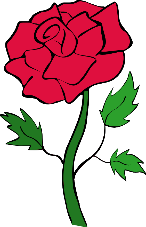566x880 Red Flower Clipart Simple Rose