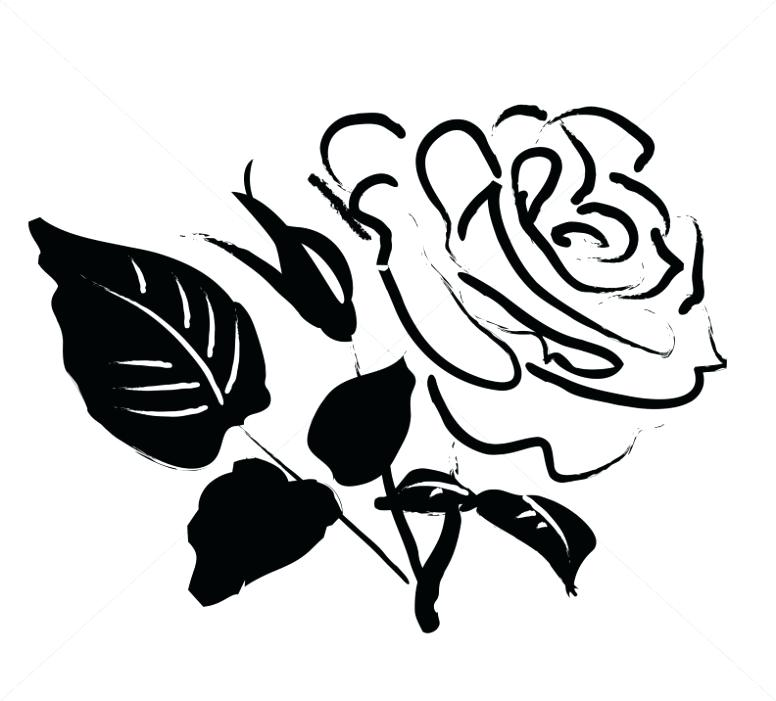 776x701 Rose Clipart Black Roses Vector Rose Clipart Simple Memocards.co